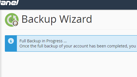 Back and restore in cPanel
