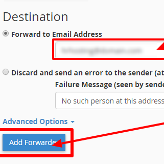 Select email forwarders four